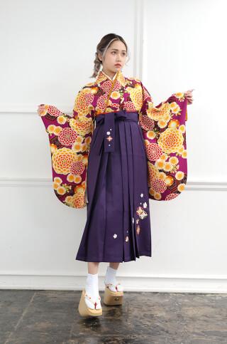古典/万寿菊/刺繍袴
