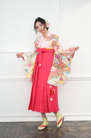 古典/牡丹/フェミニン/刺繡袴