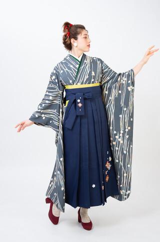 No.5811 古典/梅/水仙/刺繡袴