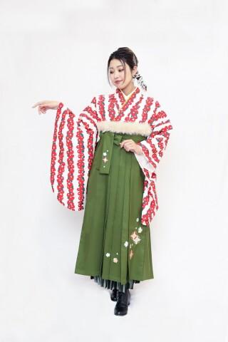 No.5826 椿/刺繡袴
