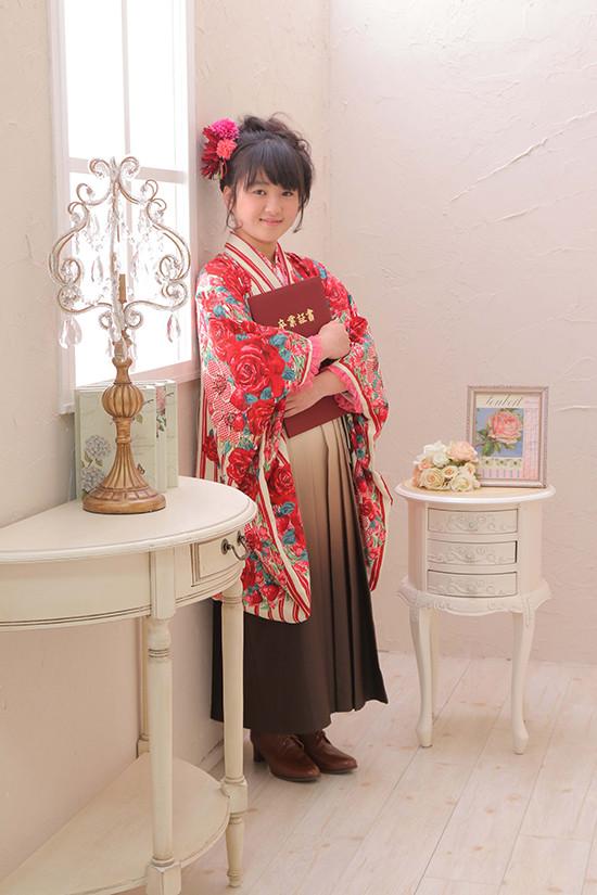 【キッズ】女子用袴の衣装画像1