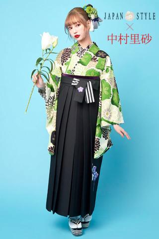 No.2860 JAPAN STYLE×中村理砂 新作振袖スタイル(緑×白)