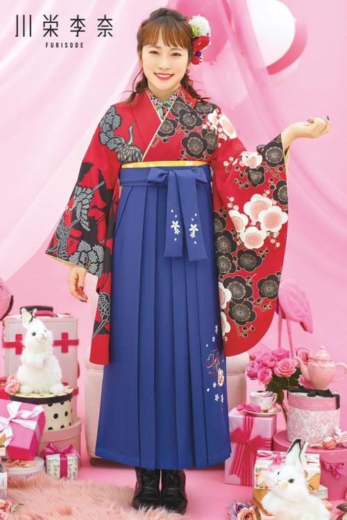 川栄李奈-HAKAMA- 新作袴スタイル(赤)の衣装画像1