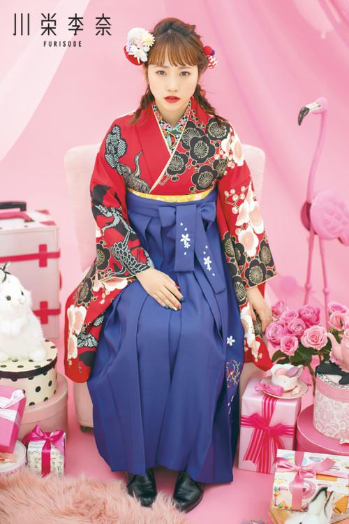 川栄李奈-HAKAMA- 新作袴スタイル(赤)の衣装画像3
