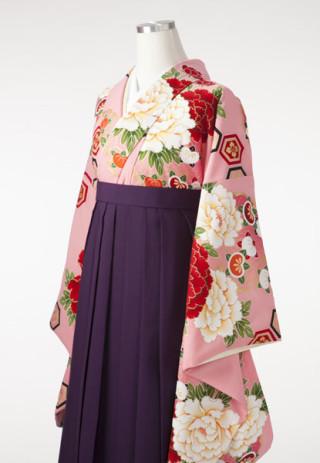 【振袖 ひいな】可愛らしいピンクの袴