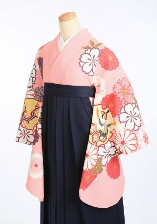 No.2397 ピンクで可愛らしい着物と袴セット