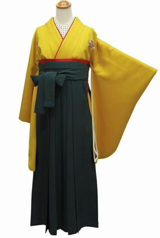 No.5609 アネモネ013(黄色からし色無地)