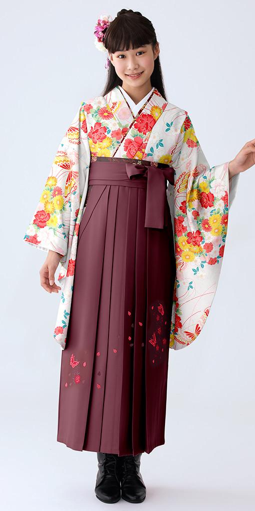 【小学生女子卒業袴】53の衣装画像1