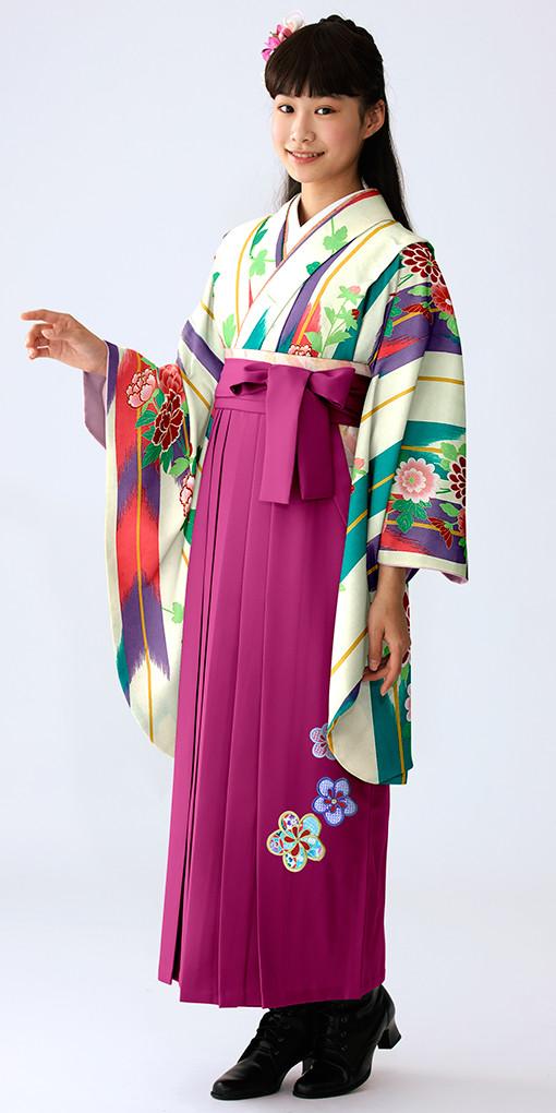 【小学生女子卒業袴】55の衣装画像1