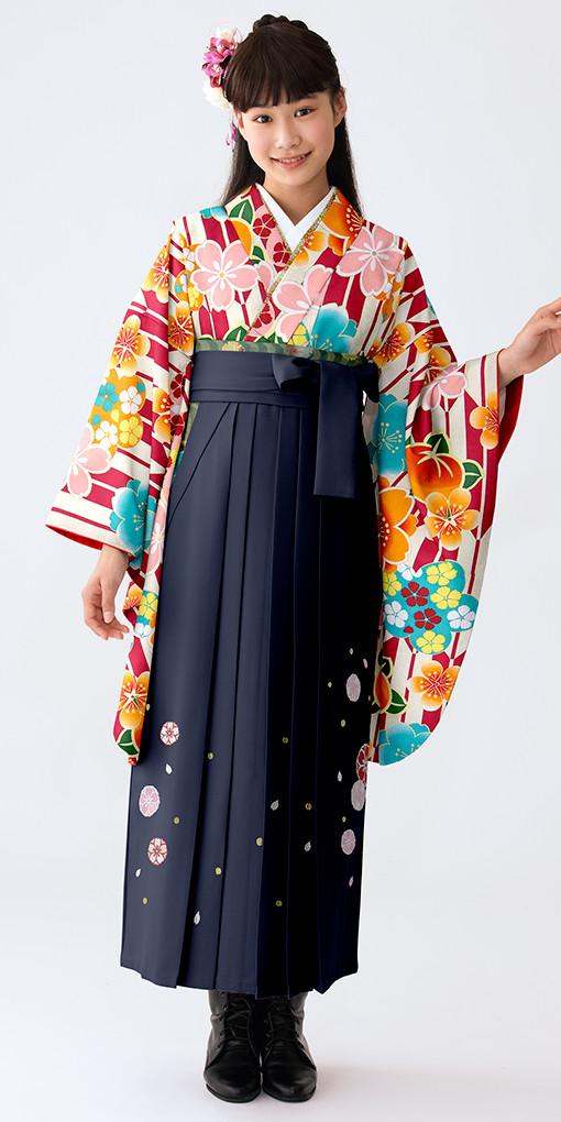 【小学生女子卒業袴】85の衣装画像1