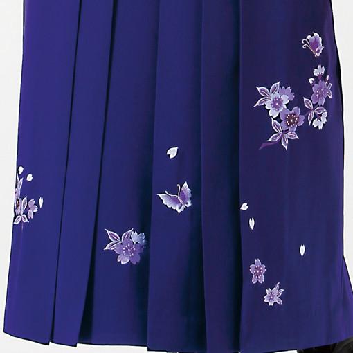 【卒業時装】着物922うぐいす/大菊*はかま375紫/桜蝶ししゅうの衣装画像3