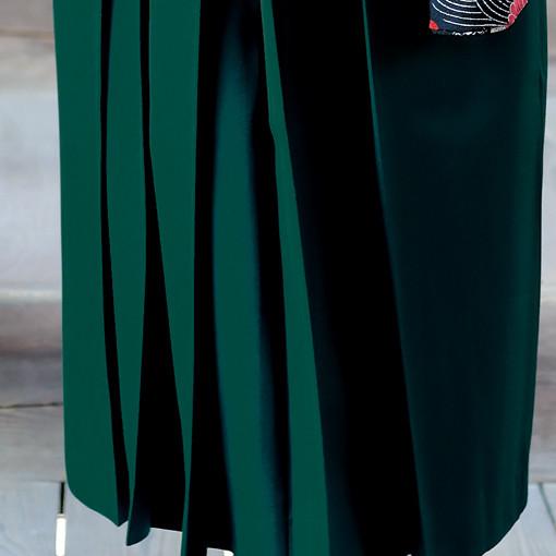【卒業時装】着物830黒/古典柄*はかま316グリーン/無地の衣装画像3