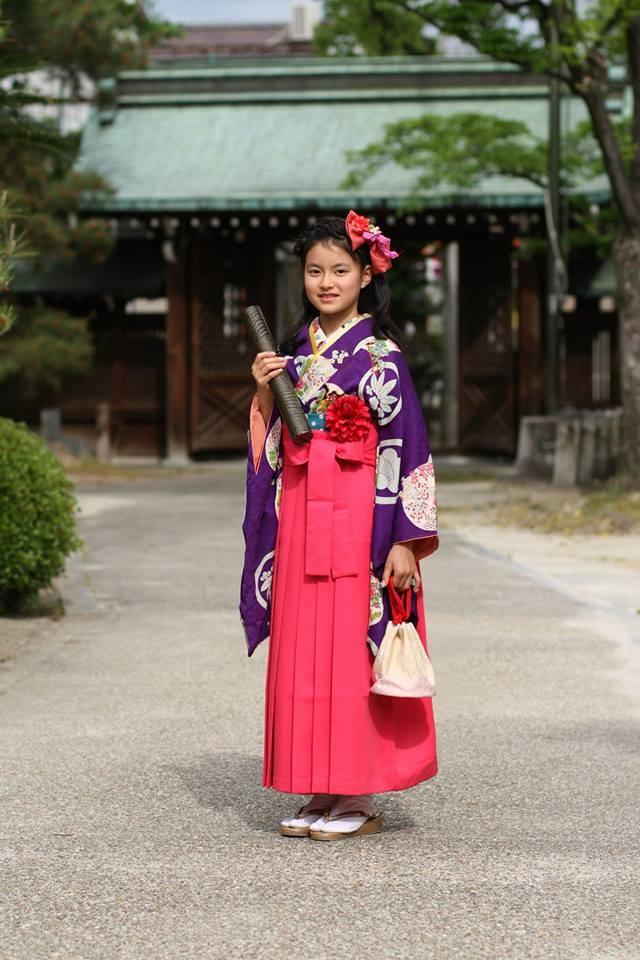 小学卒業用アンティーク袴15000円~の衣装画像1