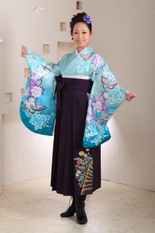 No.1002 水色&紫袴フルセット