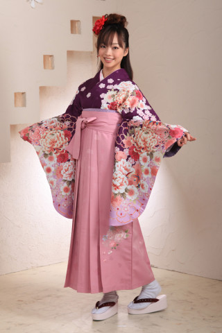 No.1019 紫ピンク袴フルセット