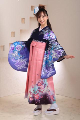 No.1023 紫バラ&ピンク袴フルセット