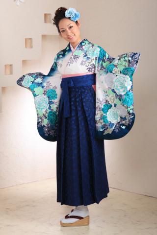 No.1030 青バラ袴フルセット