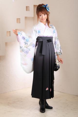 No.1034 白&グレー袴フルセット