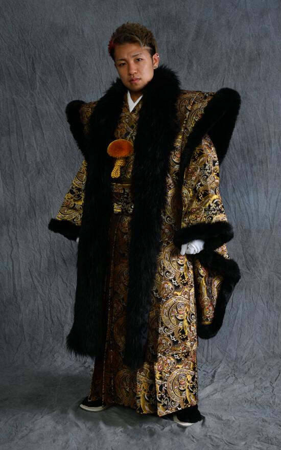 男子成人式 金蘭地オリジナル羽織袴フルセットの衣装画像1