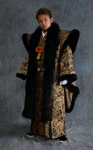 No.989 男子成人式 金蘭地オリジナル羽織袴フルセット