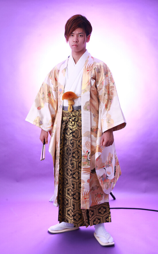 男子成人式 着物地オリジナル羽織袴フルセットの衣装画像2