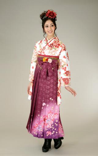 No.5269 柄入り袴(紫)