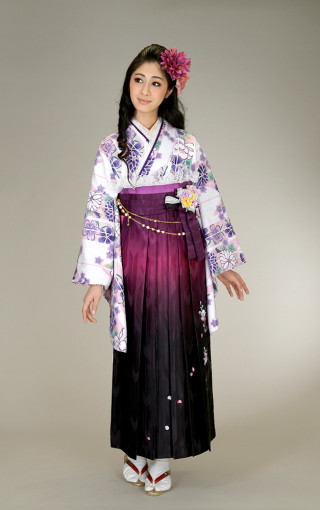 No.5272 柄入り袴(紫)