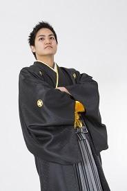 No.1252 黒 羽織袴セット
