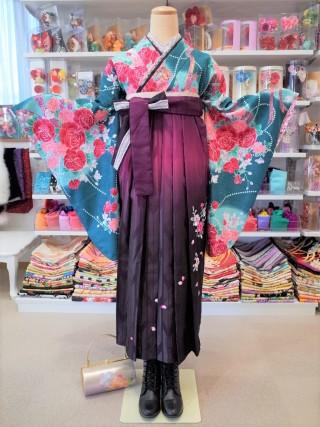 No.1624 GR-0003/H・L赤紫刺繍