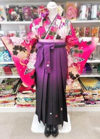 No.1632 P-0012/紫グラデ刺繍