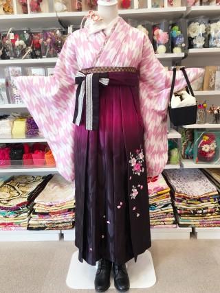 No.2303 P-0003/HL赤紫刺繍