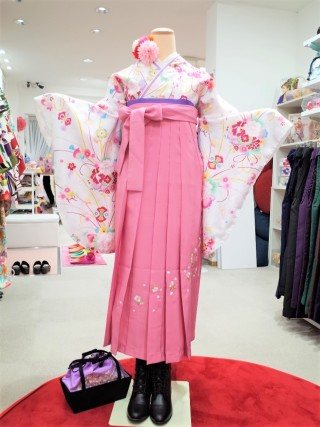 No.2319 W-0006/ピンク刺繍