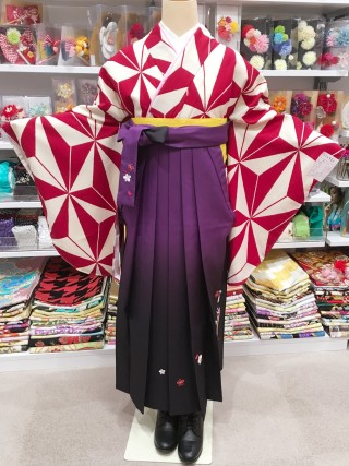 No.2622 R-0010/紫ぼかし刺繍