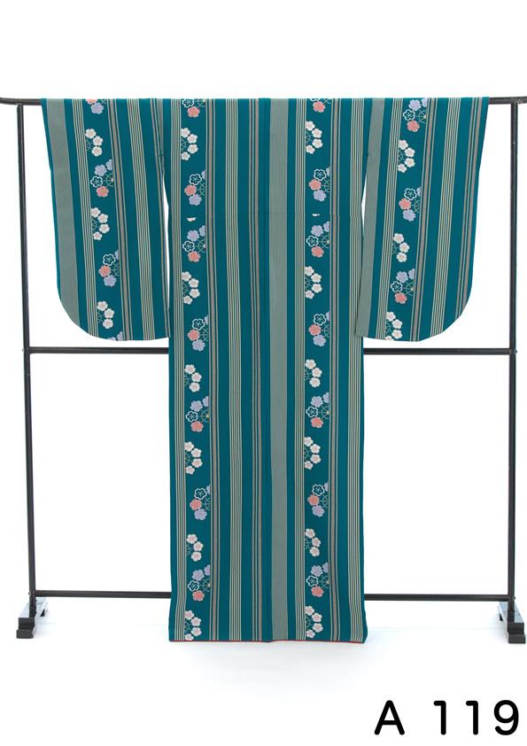 緑に縞模様がおシャレな2尺袖の衣装画像2