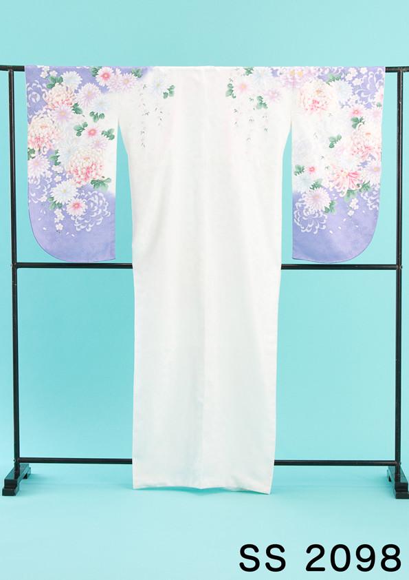 おしとやかな淡色使いの二尺袖の衣装画像1