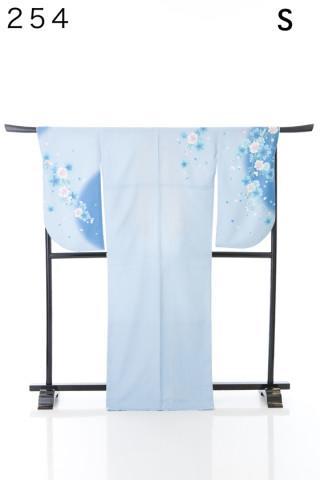 No.2106 水色に桜柄のさわやかな二尺袖