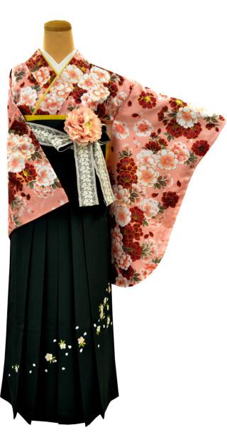 卒業式袴レンタル16点セット(袴95) No.954