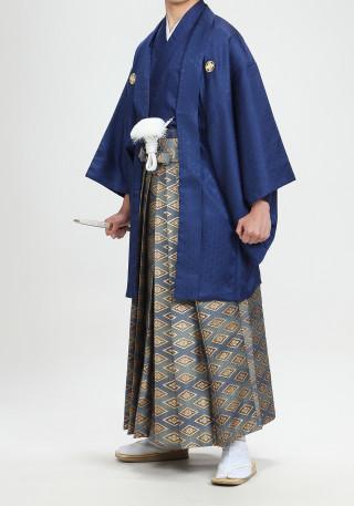 No.1709 紺 紺ぼかし 金菱型