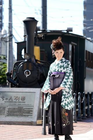 No.4051 二尺袖着物+袴レンタル
