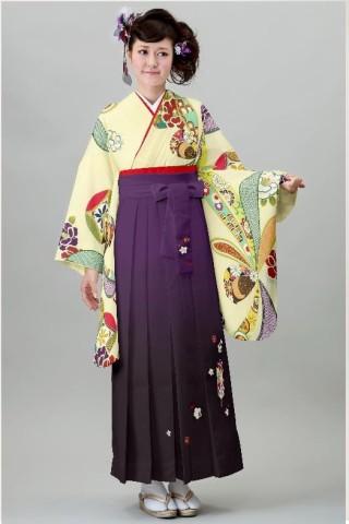 No.4571 二尺袖着物+袴レンタル