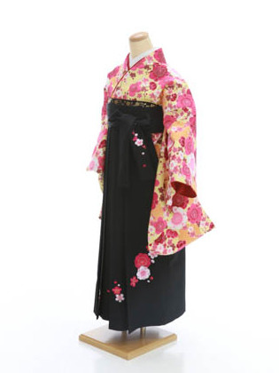 着物D603(黄)・袴C62の衣装画像1