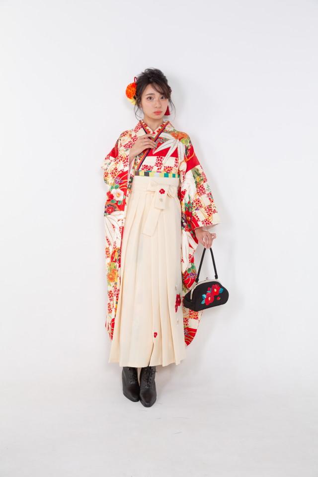 赤の市松に笹の衣装画像2