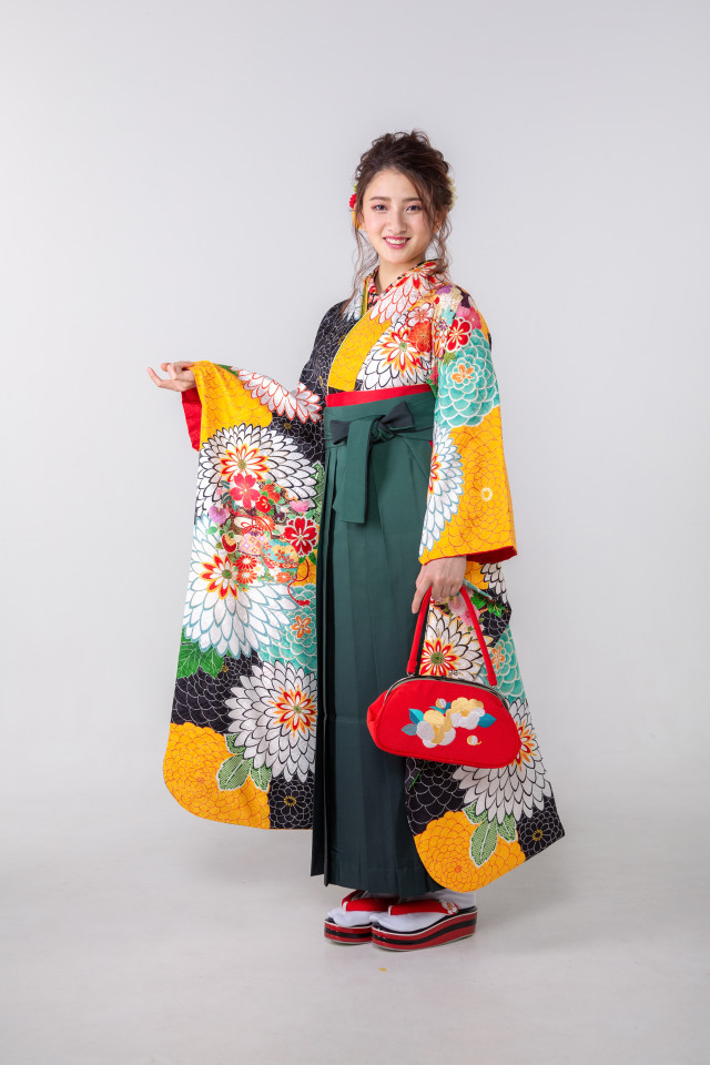 黒と黄色の千寿菊の衣装画像1