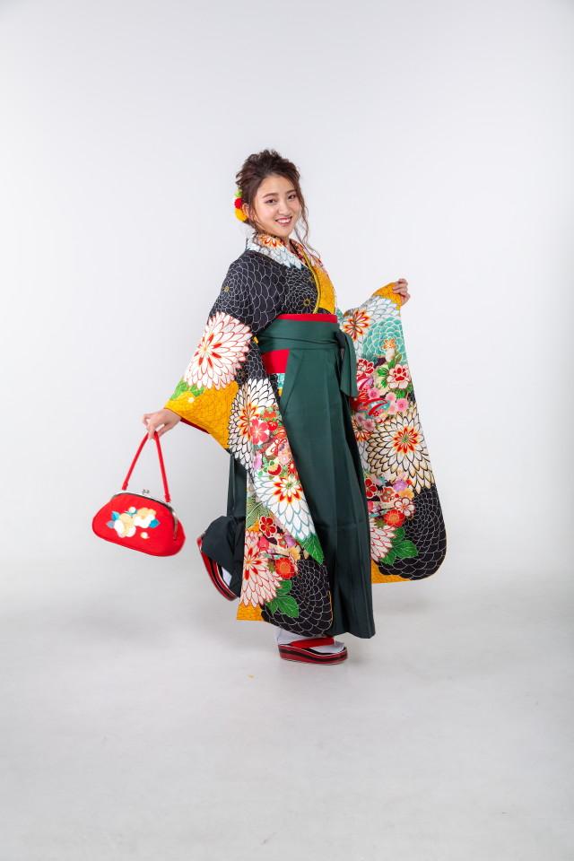 黒と黄色の千寿菊の衣装画像3