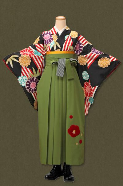 卒業式袴レンタルセットの衣装画像1