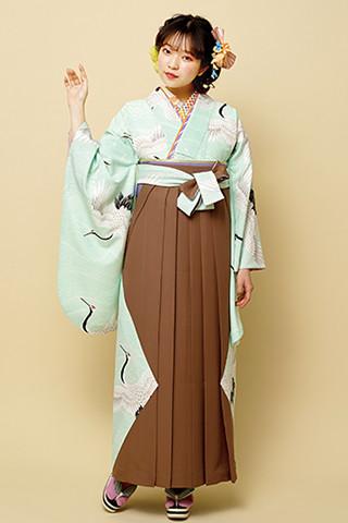 着物柄を使った袴 103の衣装画像1