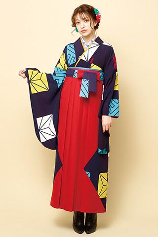 着物柄を使った袴 201の衣装画像1
