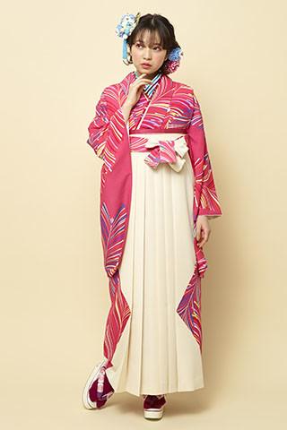 着物柄を使った袴 204の衣装画像1