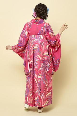着物柄を使った袴 204の衣装画像2