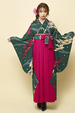 着物柄を使った袴 205の衣装画像1